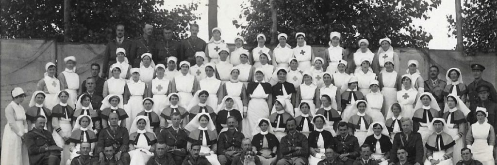 The staff of one of the Base Hospitals, Rouen, France, WW1