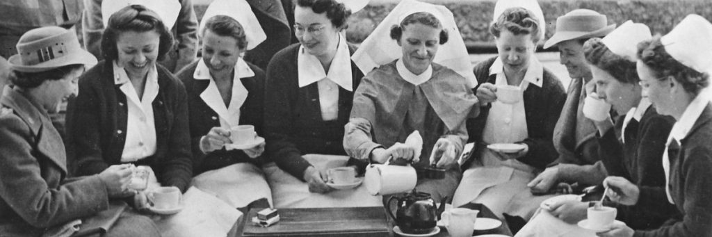 Making friends with American nurses during WW2