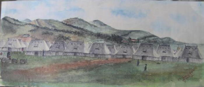 Watercolour belonging to Martha Baines