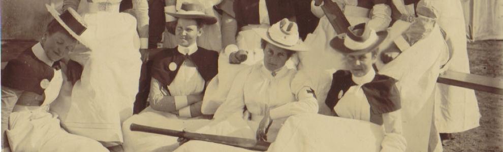 Army nurses in the Boer War, cricket team