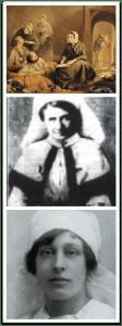 Images of three nurses
