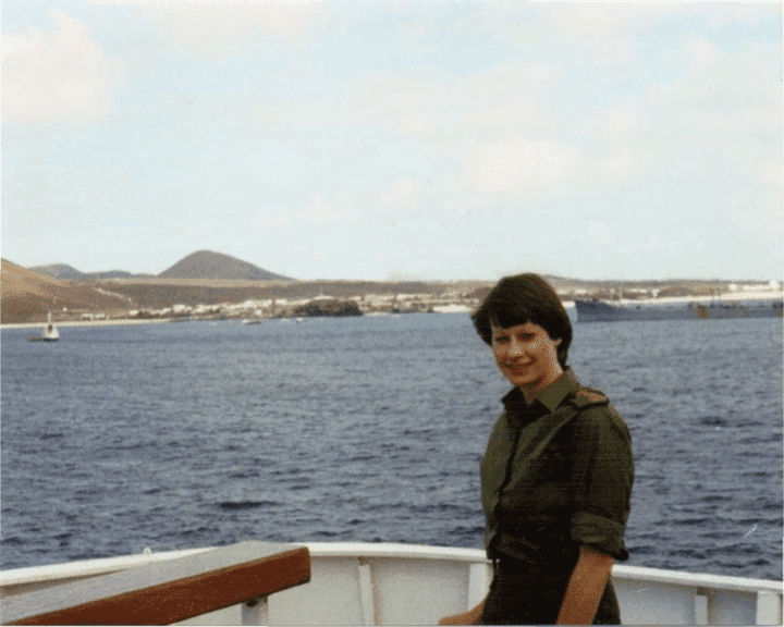 Maggie Barclay en route to the Falkland Islands