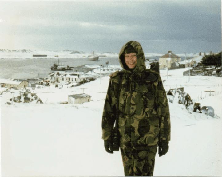 Maggie Barclay on Sapper Hill Falklands Islands
