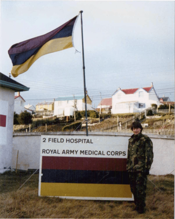 Maggie Barclay outs 2 Field Hospital Falkland Islands
